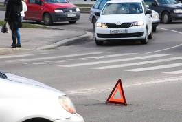 Из-за ДТП у «Авроры» в Калининграде образовались пробки на нескольких улицах
