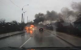 Во Взморье сгорел автомобиль