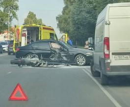 Очевидцы: В ДТП на Невского в Калининграде погиб мотоциклист