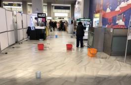 Очевидцы: В новом терминале аэропорта «Храброво» протекает крыша
