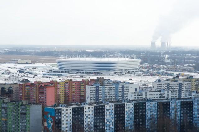На территории под стадионом к ЧМ-2018 в Калининграде зафиксировали проседание грунтов выше нормы