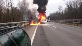 На Приморском кольце загорелся грузовой «Форд»
