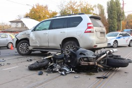УМВД: Погибшему на Советском проспекте мотоциклисту было 29 лет
