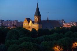Алиханов показал, как подсветят Кафедральный собор в Калининграде