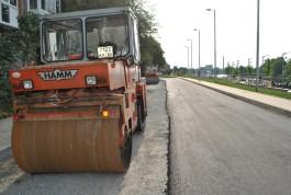 Дорогу вдоль набережной Трибуца в Калининграде обещают отремонтировать через семь дней