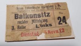 Жительница Полесска нашла на чердаке билет 1912 года в театр Кёнигсберга