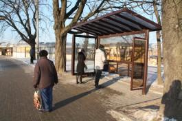 В Калининграде установили новые остановочные комплексы