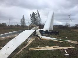 Специалисты объяснили, почему упал ветряк в посёлке Куликово