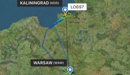 Самолёт Варшава — Калининград не смог сесть в «Храброво»