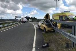 УМВД: В ДТП с такси в районе аэропорта «Храброво» пострадал 60-летний водитель