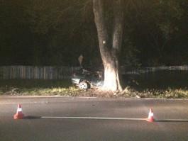 На трассе Калининград — Правдинск автомобиль врезался в дерево: погиб 37-летний водитель