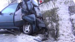 В Зеленоградском округе «Мерседес» врезался в дерево: водитель в больнице
