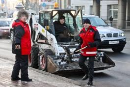 За три дня из Калининграда вывезли 424 тонны снега