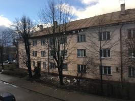 В Калининграде при ремонте крыши обвалилась часть немецкого дома