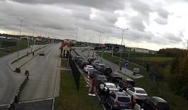 Калининградские автомобилисты жалуются на очереди на границе с Польшей