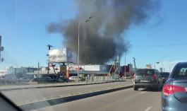 В Калининграде снова горит «Мираторг» на улице Гагарина