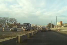 «Стиральная доска» на новом мосту на Моспроспекте