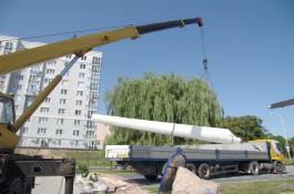 Лопасть ветряка из Куликово стала экспонатом Музея Мирового океана