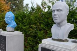 На мемориальном комплексе в Чкаловске установили «более долговечные» бюсты героев авиации
