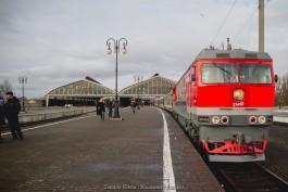 Время в пути поезда Санкт-Петербург — Калининград сократится на два часа