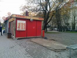 На проспекте Мира в Калининграде снесли два торговых павильона