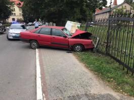 В Янтарном пьяный водитель «Ауди» врезался в забор храма