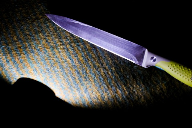 ВЯнтарном женщина связала своего сожителя скотчем ивонзила внего нож