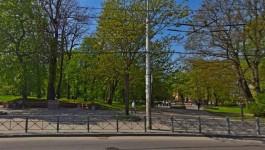 В парке между улицами Горького и Гаражной начали строить спортивно-игровую площадку