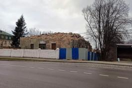 На улице Артиллерийской в Калининграде снесли три немецкие казармы