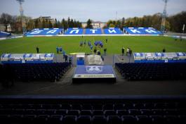На стадионе «Балтика» в Калининграде сносят Северную трибуну под площадки для мини-футбола