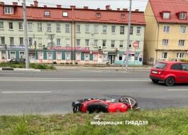 На улице Брусничной в Калининграде разбилась 33-летняя мотоциклистка