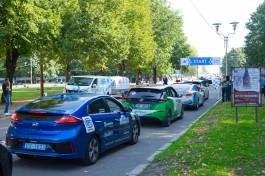 """«""""Зелёные"""" электрокары»: в Калининград заехали участники международного марафона «Таллин — Монте-Карло»"""