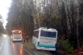 УМВД об аварии на балтийской трассе: Водитель автобуса уходил от столкновения с фурой