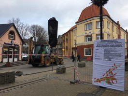 В Зеленоградске начали обустраивать новую пешеходную зону