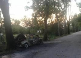 В Гурьевском округе водитель на ходу выбежал из загоревшейся машины