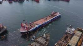 Строящийся паром для линии Балтийск — Усть-Луга спустили на воду на верфи в Турции