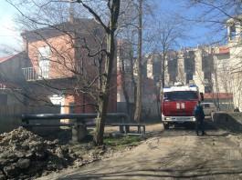 Рядом с променадом в Зеленоградске произошёл крупный пожар