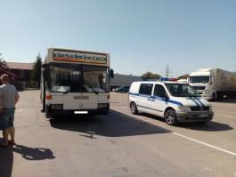 Под Калининградом полицейские обнаружили рейсовый автобус №44 с неисправным рулевым управлением
