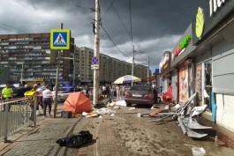 На улице Фрунзе в Калининграде «Мерседес» вылетел на тротуар: погибла женщина