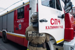 При пожаре на улице Репина в Калининграде пострадала женщина