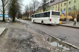 Из-за ремонта улицы Морозова в Калининграде меняют схему движения автобусов