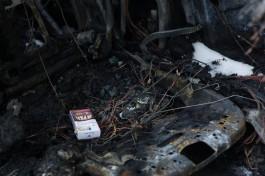 На улице Киевской в Калининграде загорелся автомобиль «Рено»