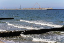 Подрядчик завершил работы по сохранению конструкций недостроенного порта в Пионерском