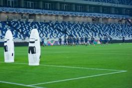 На стадионе «Калининград» во время режима самоизоляции обновили газон