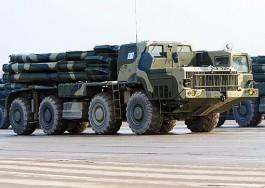В Калининградскую область привезли новые реактивные системы залпового огня «Смерч»