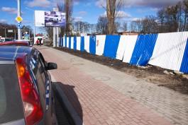 Крупин: Строительный забор на площади Василевского вообще нелегален