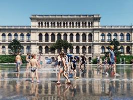 В Калининграде сломался фонтан в Биржевом сквере