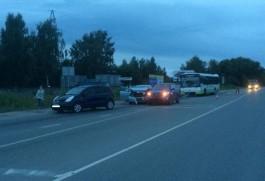 На Северном обходе Калининграда столкнулись автобус и три машины: пострадал десятилетний мальчик