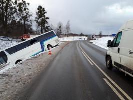 Авария с рейсовым автобусом в посёлке Междуречье попала на видео
