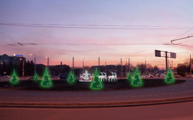 Монтаж новогодней ели начался наплощади Победы вКалининграде